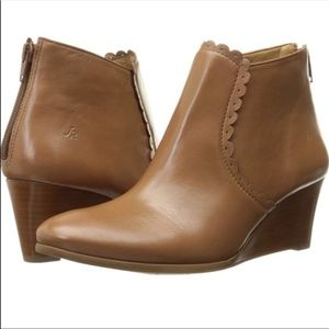 Jack Rogers leather Emery wedge boot cognac
